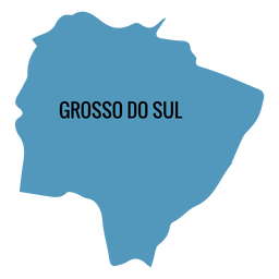 Mato grosso do sul state map