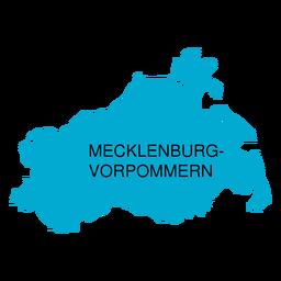 Mecklenburg west pomerania state map