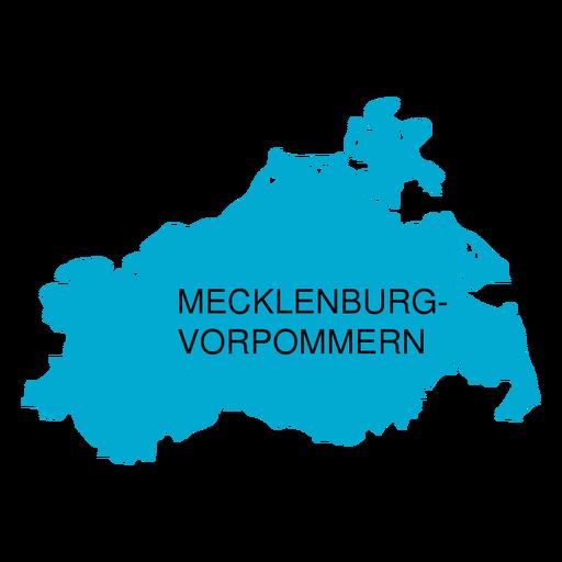 Mecklemburgo mapa del estado de pomerania occidental Transparent PNG