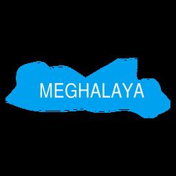Meghalaya state map