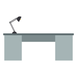 Metal office desk clipart