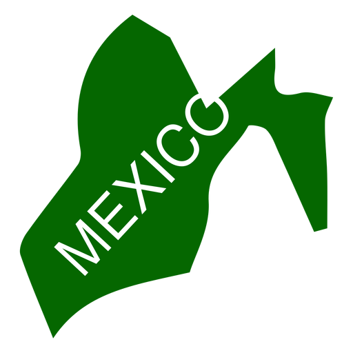 Mapa do estado do México Transparent PNG