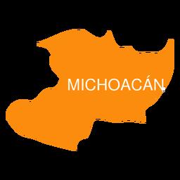 Mapa del estado de Michoacán de ocampa