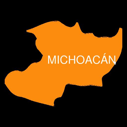 Michoacan de ocampa state map Transparent PNG