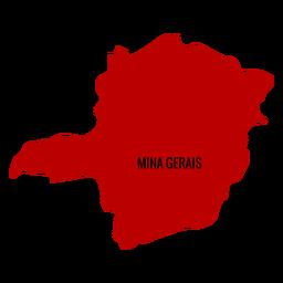 Minas Gerais State Karte