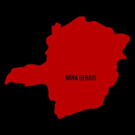 Mapa del estado de Minas Gerais
