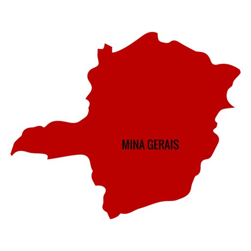Minas gerais state map Transparent PNG