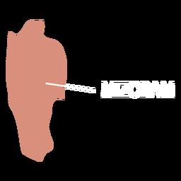 Mizoram state map