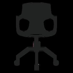 Moderne Schreibtischstuhl flach Symbol