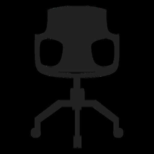 Icono plano de silla de escritorio moderno