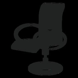 Icono plano de silla de oficina moderna