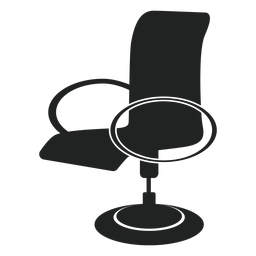 Modern office chair flat icon