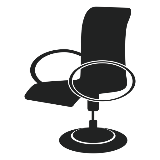 Modern office chair flat icon Transparent PNG