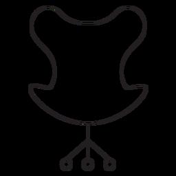Ícone de traçado de cadeira de escritório moderno