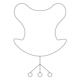 Modern office chair stroke icon