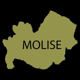 Mapa da região de Molise