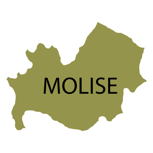 Mapa da região de Molise Transparent PNG