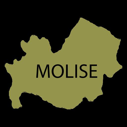 Molise region map Transparent PNG