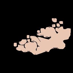 Mapa do condado de og romsdal