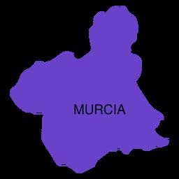 Mapa da comunidade autónoma de Múrcia