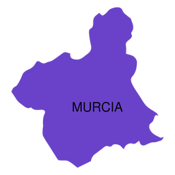 Mapa de la comunidad autónoma de murcia