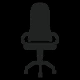 Ícone de cadeira estreita de volta do escritório