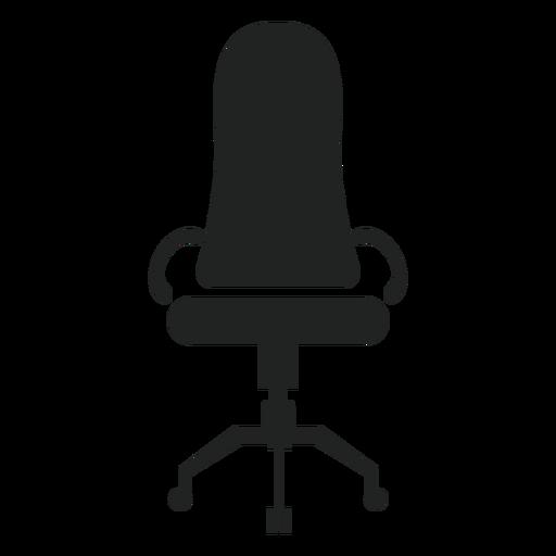 Icono de silla de oficina de respaldo estrecho Transparent PNG