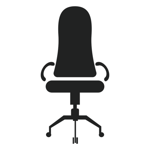 narrow back office chair icon transparent png svg vector