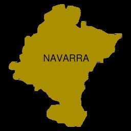 Mapa da comunidade autônoma de Navarra