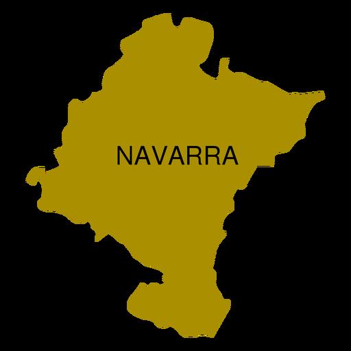 Mapa da comunidade autônoma de Navarra Transparent PNG