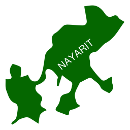 Nayarit state map
