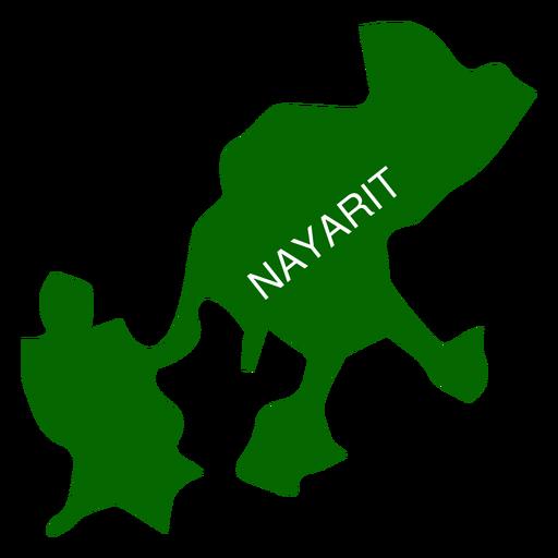 Nayarit state map Transparent PNG