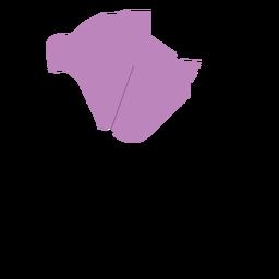 Novo mapa da província de brunswick