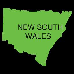 Nuevo mapa del estado de gales del sur