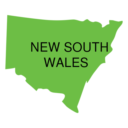 New south wales state map Transparent PNG