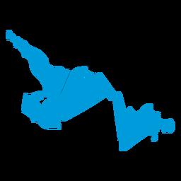 Mapa da província de Newfoundland e Labrador