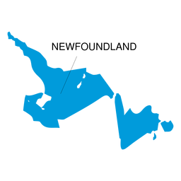 Newfoundland and labrador province map