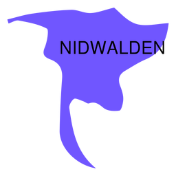 Mapa del cantón de Nidwalden