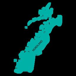 Mapa de condado de Nordland
