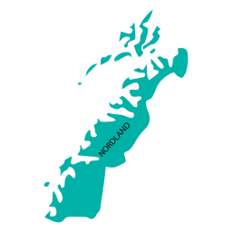 Nordland county map