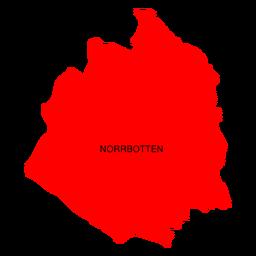 Mapa del condado de Norrbotten