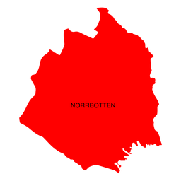Norrbotten county map