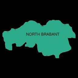 Mapa da província de Brabante do Norte