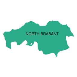 North brabant province map