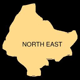 Mapa del distrito noreste