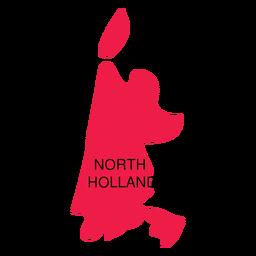 Mapa da província de Holland do Norte