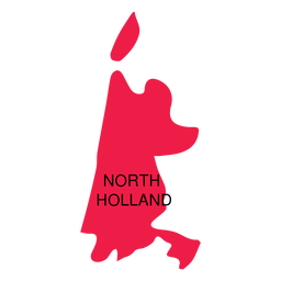 North holland province map