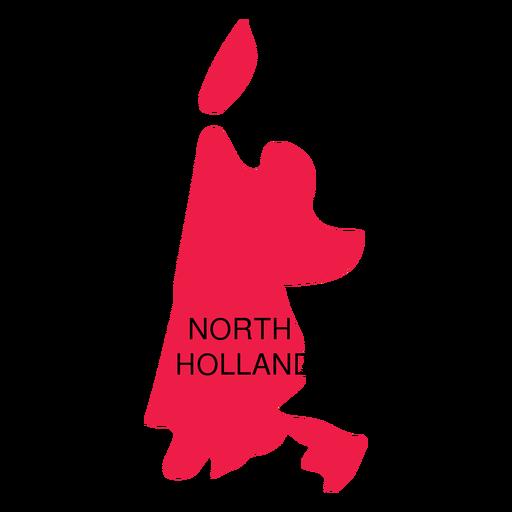 Mapa de la provincia de Holanda del Norte Transparent PNG