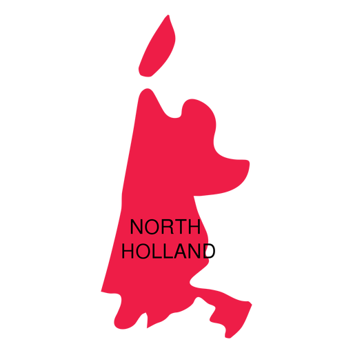 North holland province map Transparent PNG
