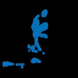 Mapa del norte de la provincia de maluku